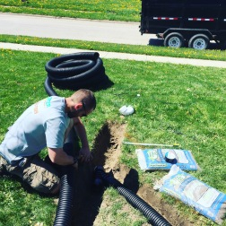 We specialize in water drainage solutions.